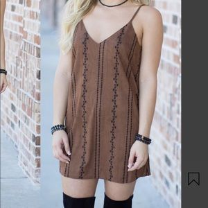 NWT Suede Mini Dress- Fall perfection, y'all 🍂